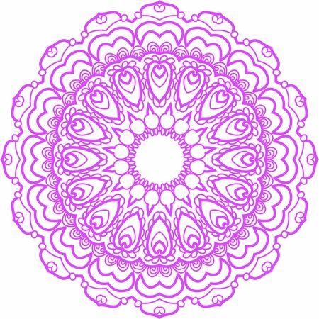 Hindi Mandala Vector Art Pattern Design