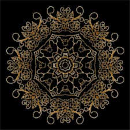 Mandala Premium Gold Vektorové ilustrace
