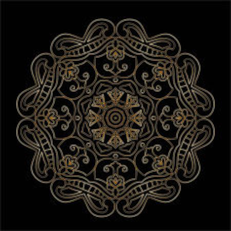 Premium Gold Mandala Vector Art Pattern Design