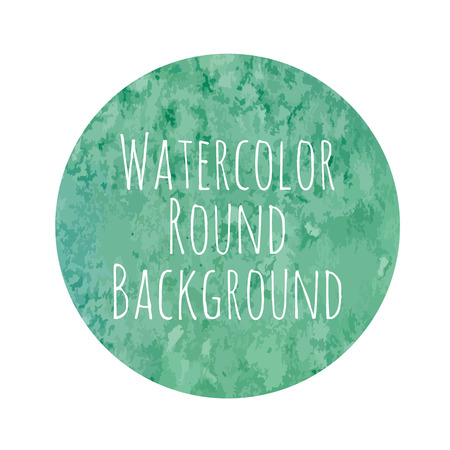 vectorized watercolor blue-green background round shape Vector