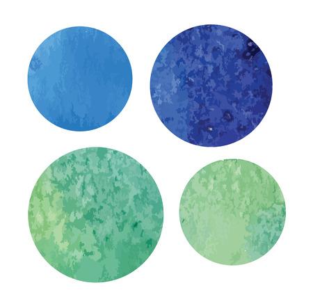vectorized: acuarela vectorized fondo azul-verde de forma redonda