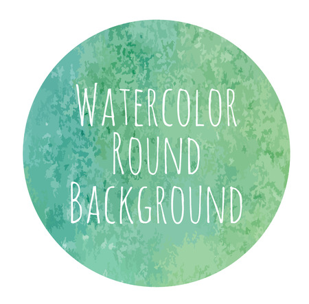 bluegreen: vectorized watercolor blue-green background round shape