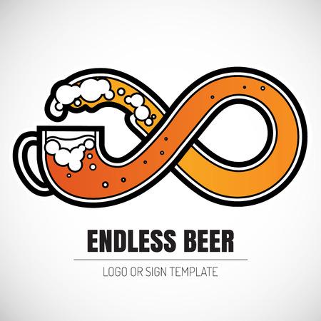 tankard: endless beer - infinity symbol logo
