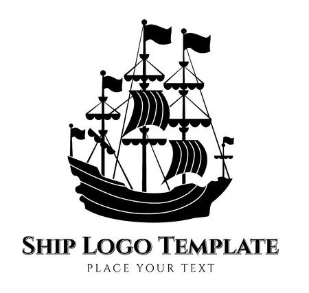 keel: ship silhouette - vector logo template Illustration
