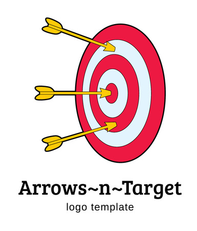 target with arrows vector logo template -  symbol of success, luck and hitting the target Vector