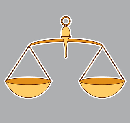 weighted: Old vintage scale - Symbol of justice
