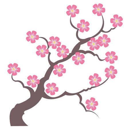 repujado: silueta ramas de sakura - dibujo vectorial de sello en seco y dise�o