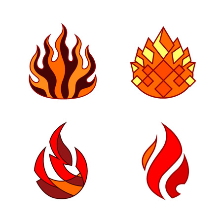 stylized flame decorative element - suitable for use in  Design Illustration