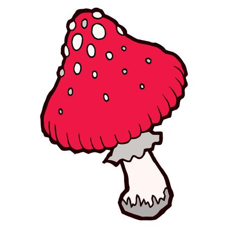 grebe: Autumn mellow amanita mushroom - vector elements for design Illustration