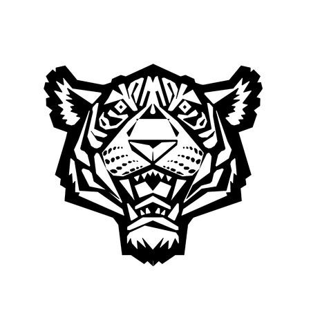 tiger head: Tiger head. Vector illustration of a tiger head.