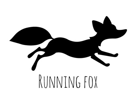 Running red fox - mascote picture or art for logo design
