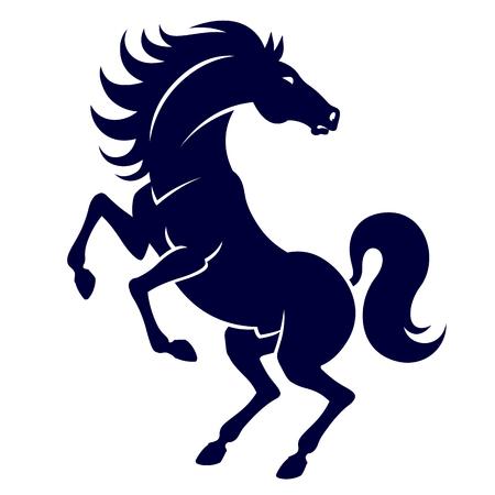 caballo: silueta de caballo fuerte de gran alcance - la cría de caballo enérgico