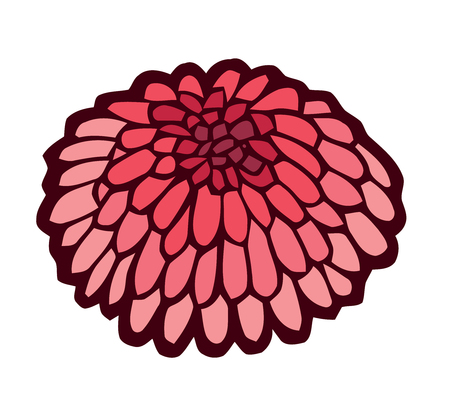 sea urchin: red sea urchin - stylized vector illustration
