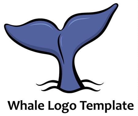 minke: Whale tale - vector illustration Illustration