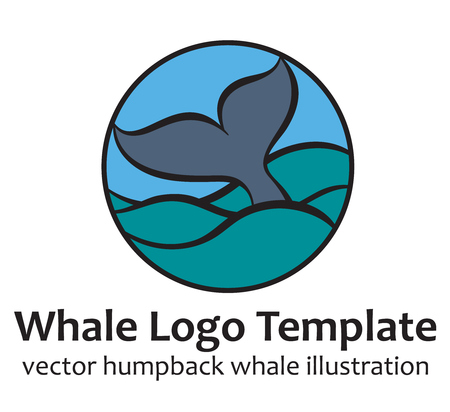baleen whale: Whale tale - vector illustration Illustration