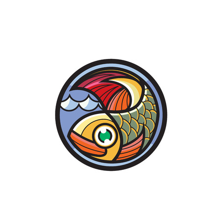 salmon fillet: Fish vector design template. Seafood restaurant idea.