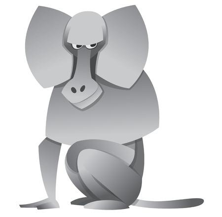baboon: zoo vector illustration cartoon baboon Illustration