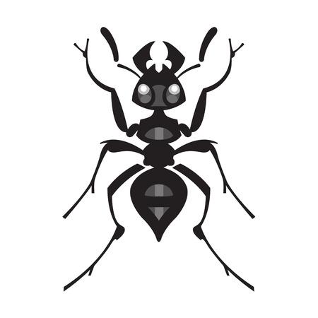 hormiga: ilustración insecto vector de la hormiga - conjunto de plagas domésticas en estilo puro