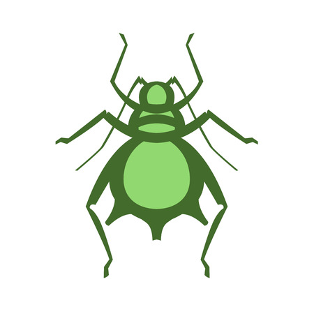entomology: aphid pest vector illustration - set of household pests in pure style