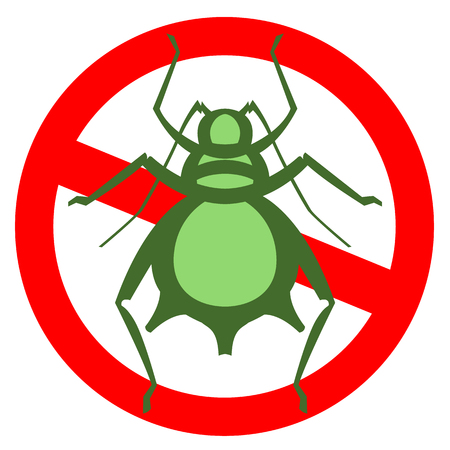 aphid pest vector illustration - set of household pests in pure style