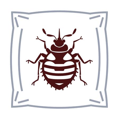 bedbug: Home bedbug vector illustration - set of household pests in pure style Illustration