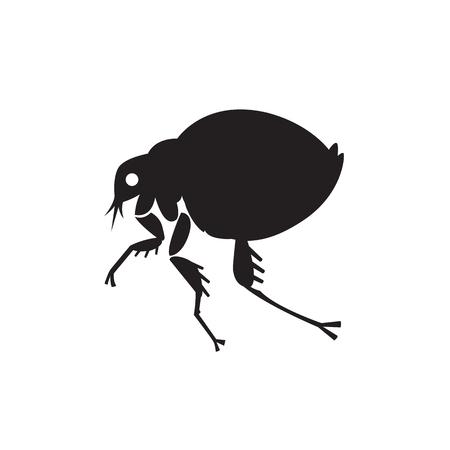 ノミ ホーム昆虫寄生虫ベクトル イラスト - 家庭の害虫の純粋なスタイルで設定