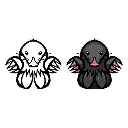 mounds: mole pest animal vector illustration - set of household pests in pure style