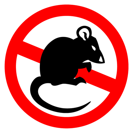house mouse vector drawing home parasite - set of household pests in pure style