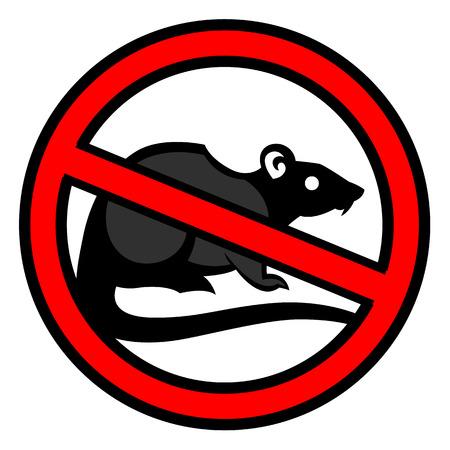 rat pest vector tekening thuis parasiet - set van huishoudelijke plagen in pure stijl Stock Illustratie