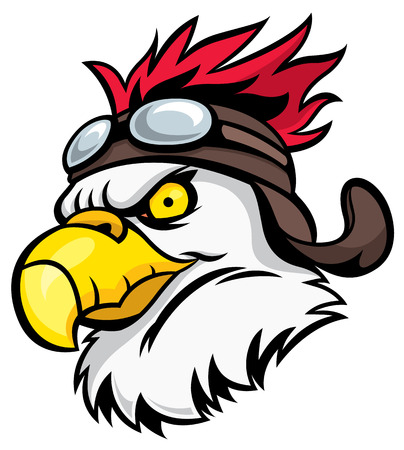 high school sports: Mascot Head of an Eagle - vector illustration