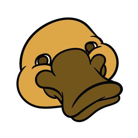 platypus: Funny happy cartoon platypus or duckbill
