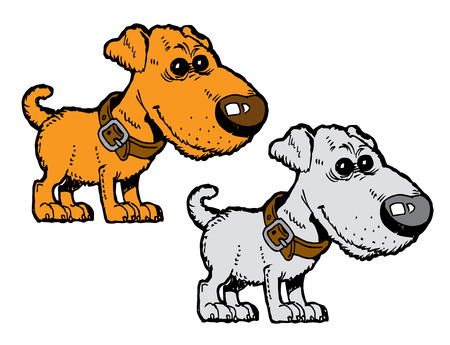 cute dog: cute red dog with collar vector