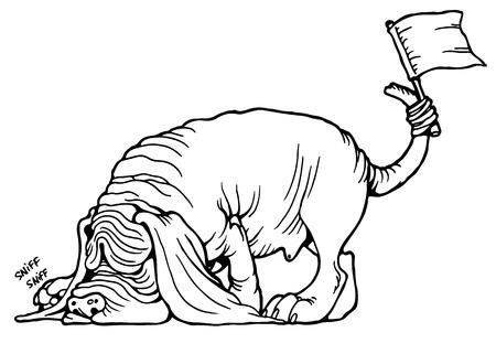 Cane Bloodhound su sfondo bianco illustrazione vettoriale Archivio Fotografico - 51201780