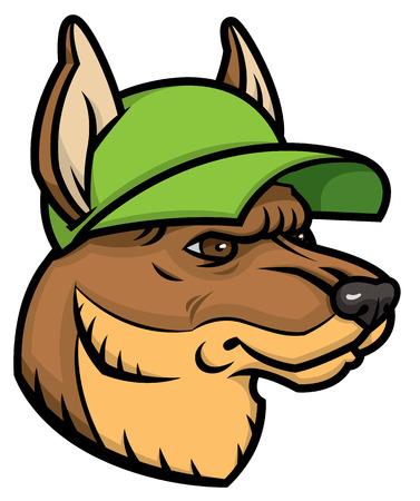 german shepherd head logo mascot emblem royalty free cliparts rh 123rf com German Shepherd Silhouette Clip Art German Shepherd Symbol