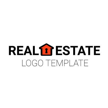 sold small: Simple line house - design for real estate, property, industry, cottage