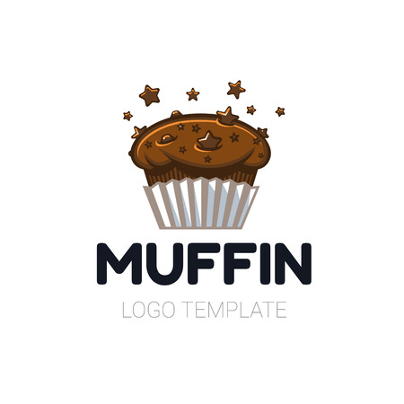 Fresh chocolate star chip space muffin sign template