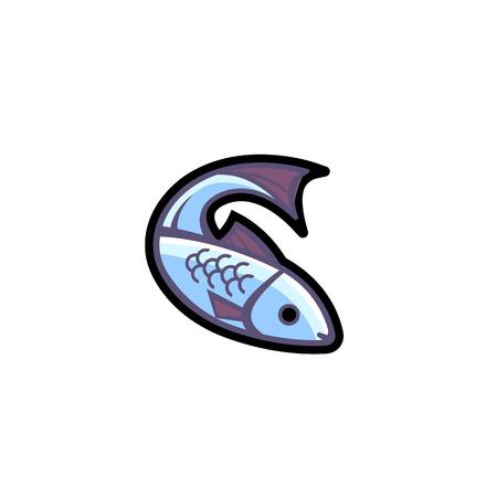 logo poisson: image vectorielle d'un poisson. Logo mod�le poissonnerie magasin.