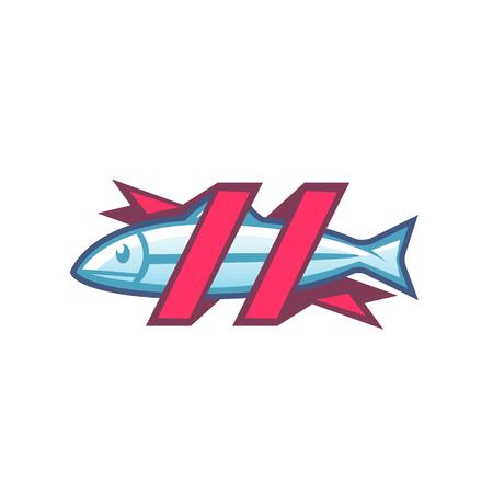 logo poisson: image vectorielle d'un poisson. Logo modèle poissonnerie magasin.