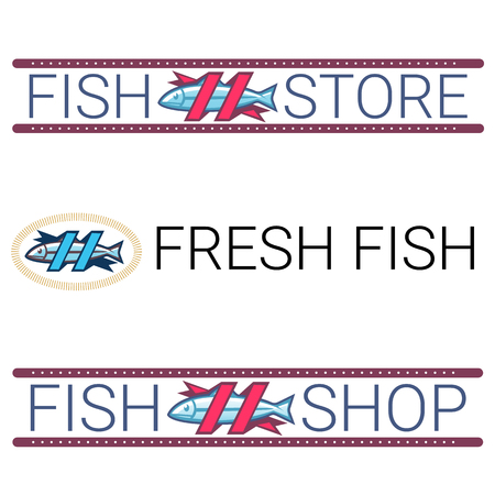 fish shop: Vector image of an fish. Logo template fish shop store.