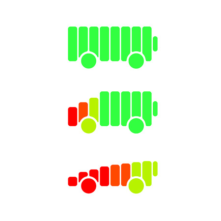 electric vehicle: Electric car template sign icon. Environmental eco symbol. Electric vehicle transport. Illustration