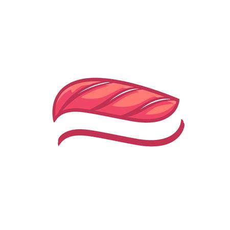 fresh salmon: Sushi fish - vector design restaurant idea template
