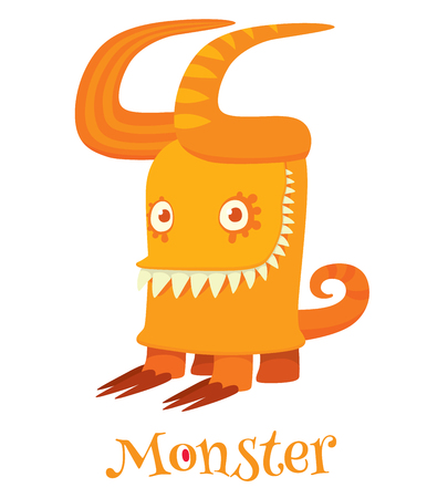 ugliness: Cute cartoon monsters - vector character