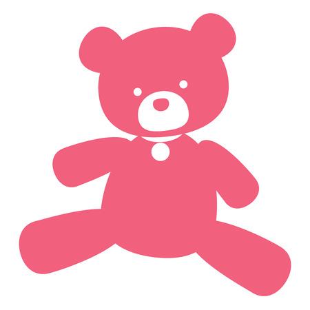vector keurige roze bear - op tekenen, logo's en stempelen