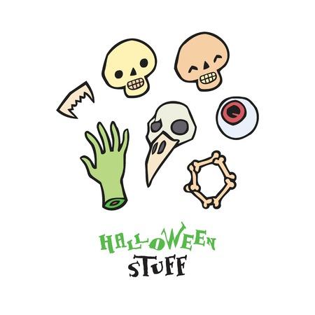 Halloween scull vector Halloween scull vector set for designset for design Illustration