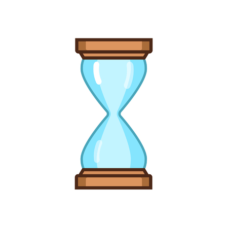 sandglass: Sand hourglass simple and elegant sand-glass timer. Sand clock icon Illustration