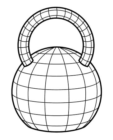 dumb bells: dumb bells or iron weight - vector illustration