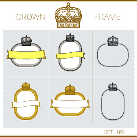 exquisite: set of vector exquisite vignettes with the royal crown