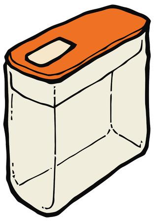 cereal: Cereal box vector illustration. Set of kitchen items Illustration
