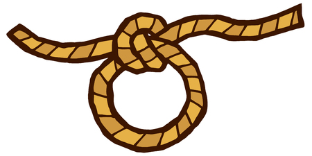 knot and rope - stylized vector illustration Vettoriali