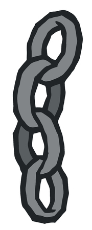 break free: Ships steel chain - stylized vector illustration Illustration